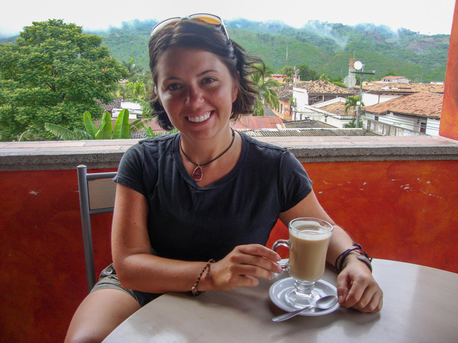 Coffee with a view in Copan Honduras.