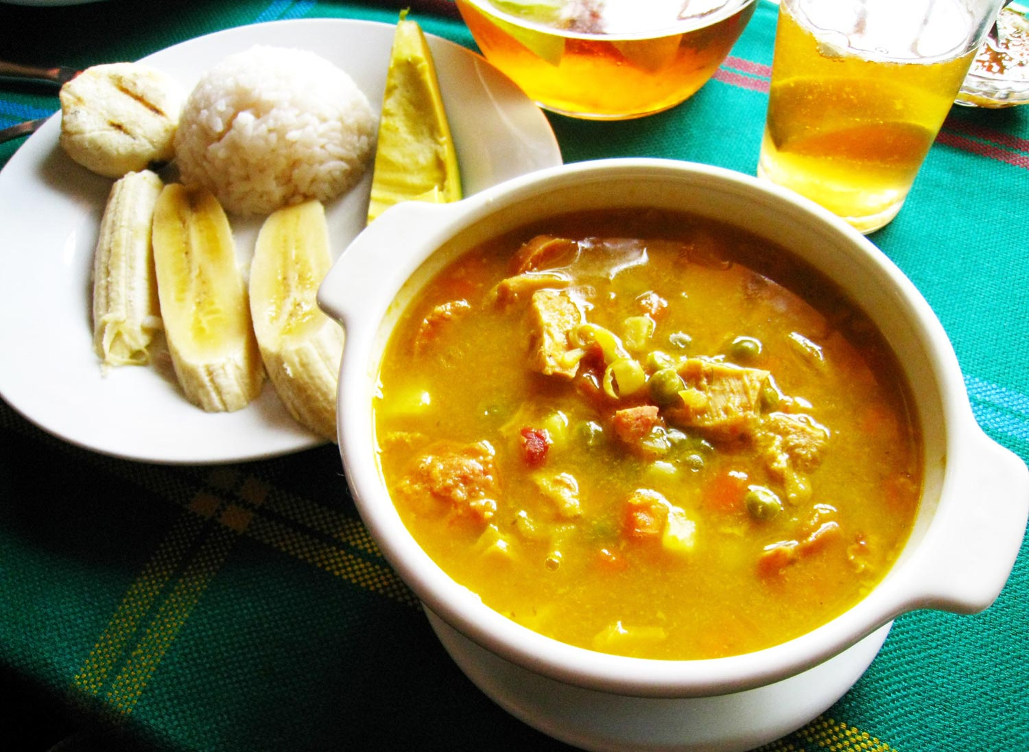 Mondongo is a Honduran food known as tripe soup that is a traditional food in Honduras.