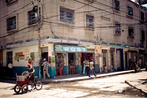 Street Corner in Santa Marta, Colombia