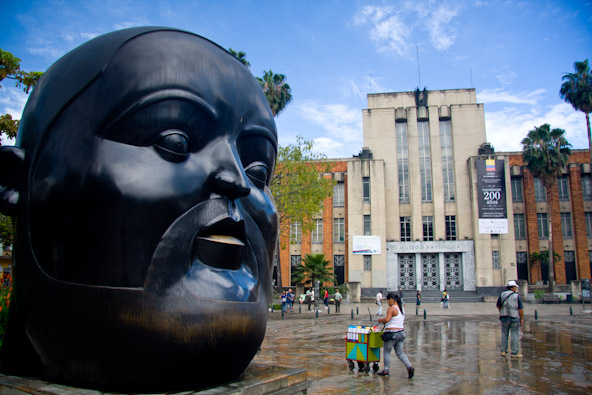 Botero Head Sculpture Medellin
