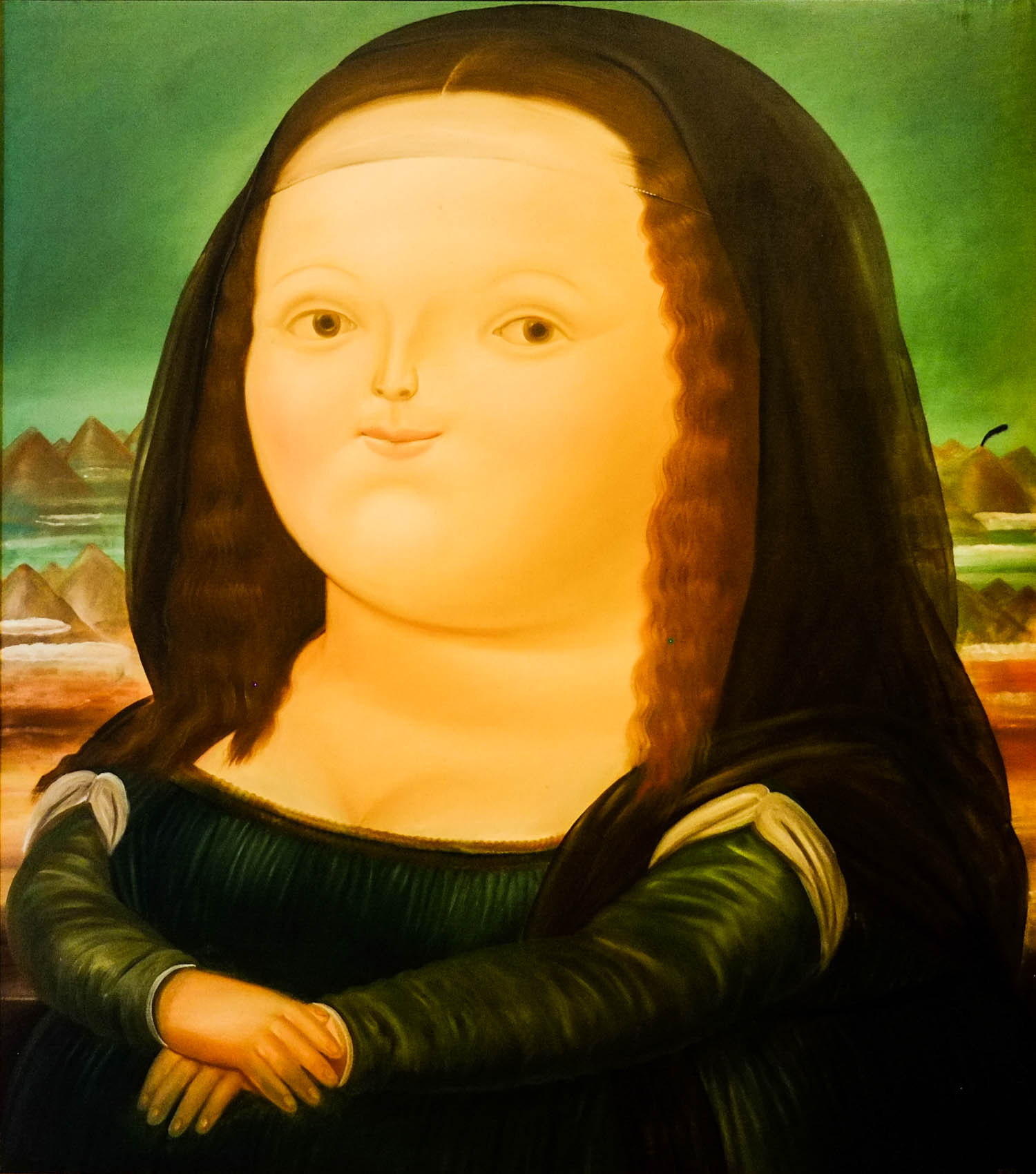Mona Lisa at the Botero Museum in Bogota.