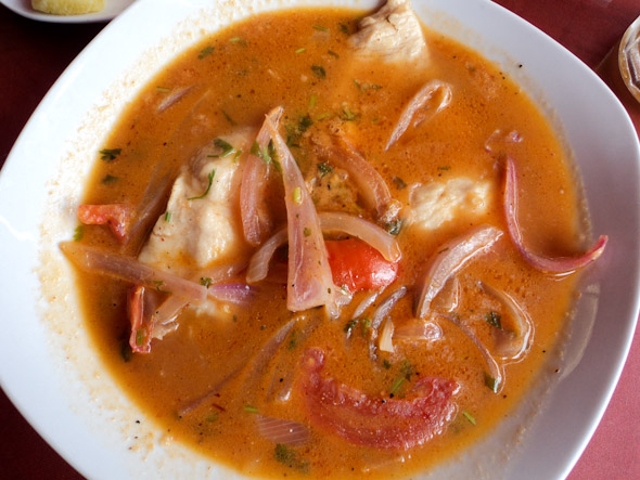 Sudado is a peruvian fish soup