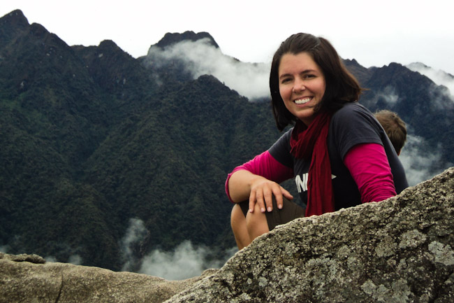 At top of Machu Picchu