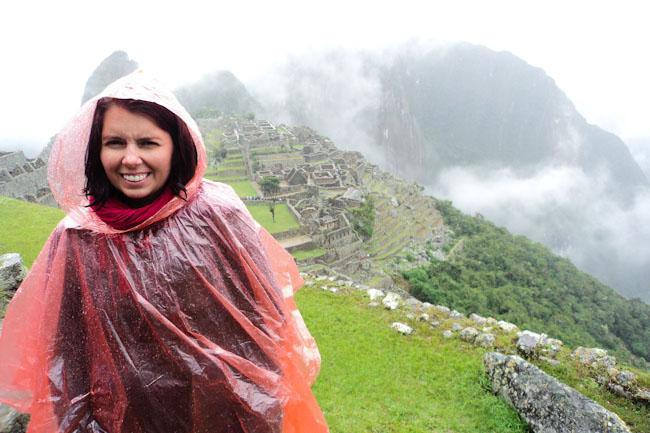 Machu Picchu in poncho