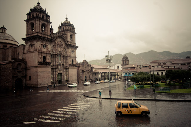 Cusco Peru in the rain