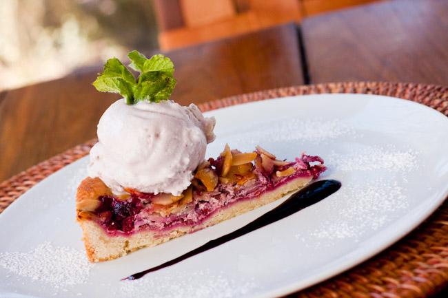 Berry Almond dessert