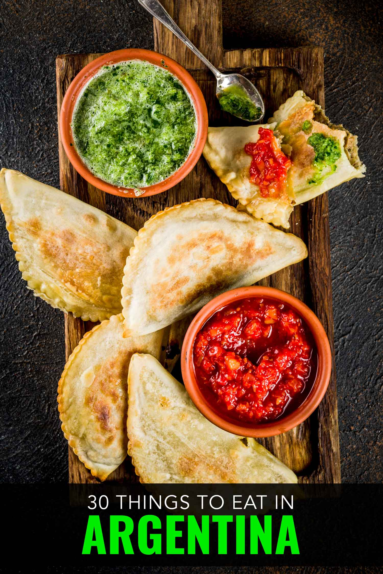 Argentinian empanadas with dipping sauce