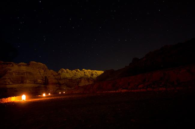 petra Jordan at night