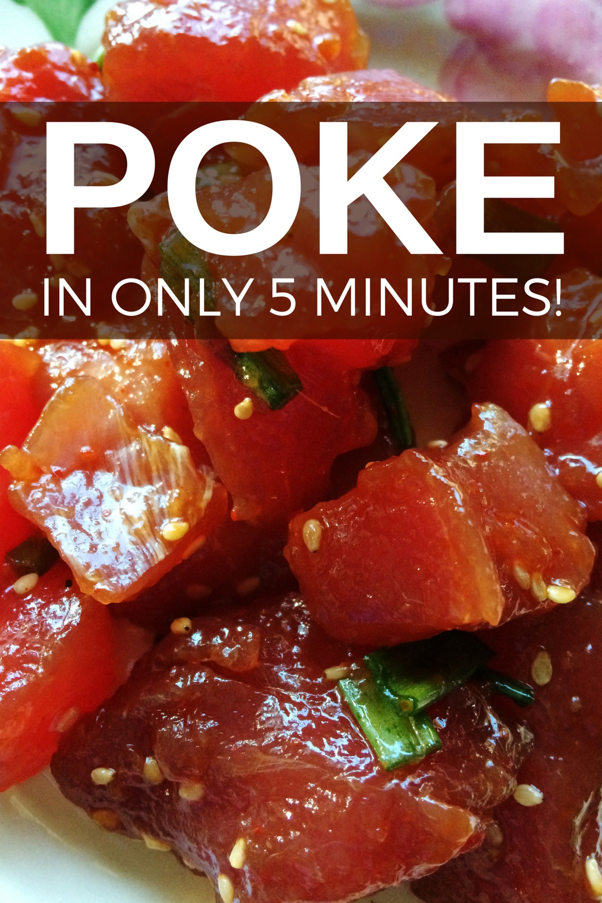 This Hawaiian poke recipe takes only 5 minutes to make. A super easy recipe, poke is found everywhere in Hawaii and so healthy and gluten-free.