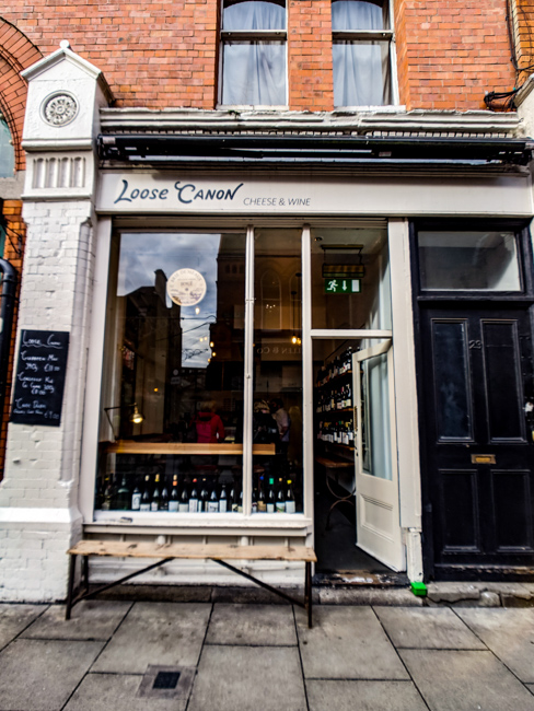 Loose Canon Wine and Cheese Shop Exterior Dublin Ireland
