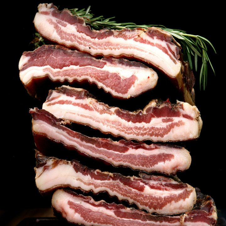 stack of pancetta