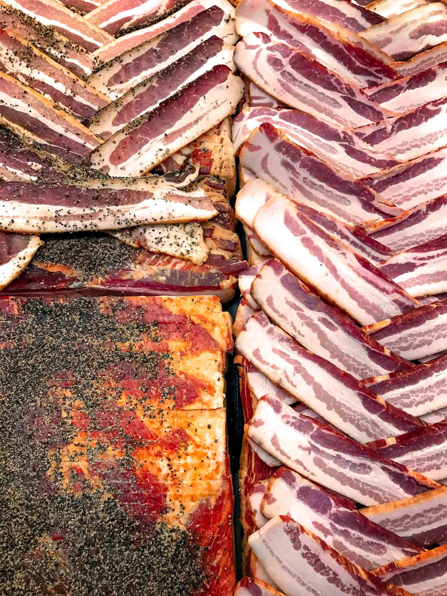 Cured pork belly or pancetta recipe with black pepper