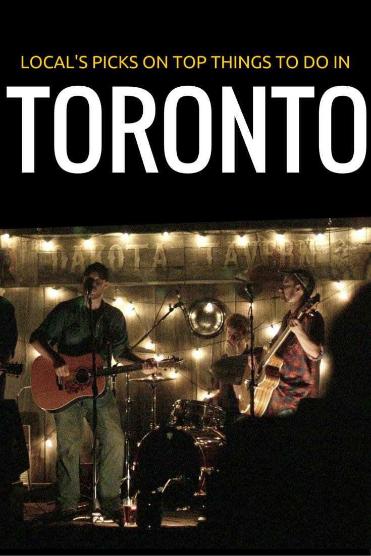 Toronto bar with band playing