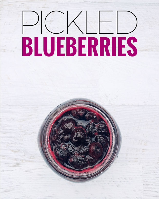 Love blueberry recipes? Here's an easy pickled blueberries recipe to impress your friends.