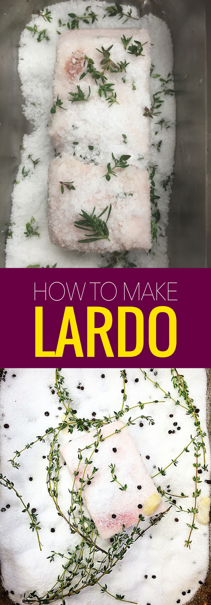 Lardo is cured pork back fat and so delicious. Learn how to make lardo with this easy recipe and impress all your italian friends.