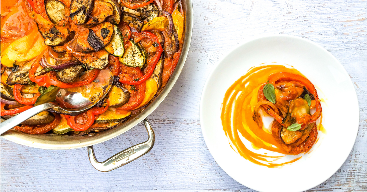 A classic French dish, this easy ratatouille recipe is perfect with summer vegetables but also comforting in winter.