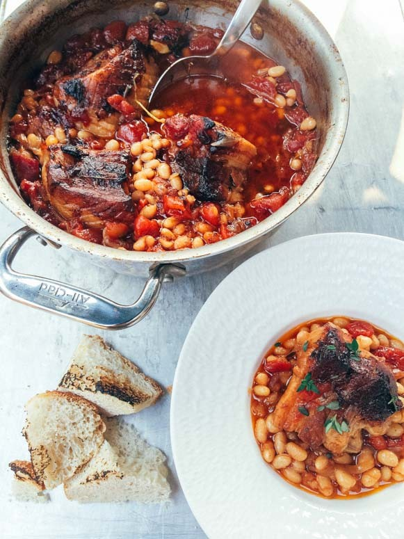 So easy! This cassoulet recipe can be made ahead of time and is so delicious.