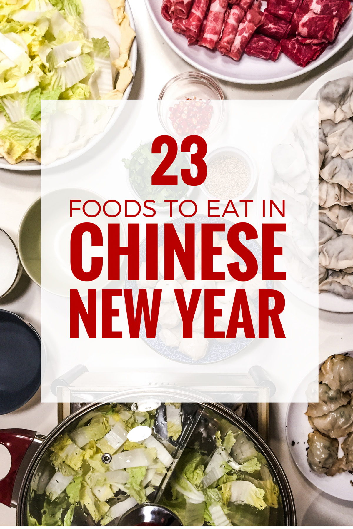 Chinese New Year Food: Discover 23 foods that you can't miss during Chinese New Year.