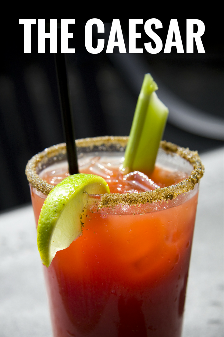 Here's an easy recipe for Canada's national cocktail - the Caesar drink is like the Bloody Mary but inspired by Italy. This classic recipe is made with vodka, clamato juice, hot sauce, Worcestershire sauce and spices and then garnished with celery and lime. It's perfect for Canada Day but is also known as a hangover cure. #cocktail #drink #vodka #recipe #hangovercure #