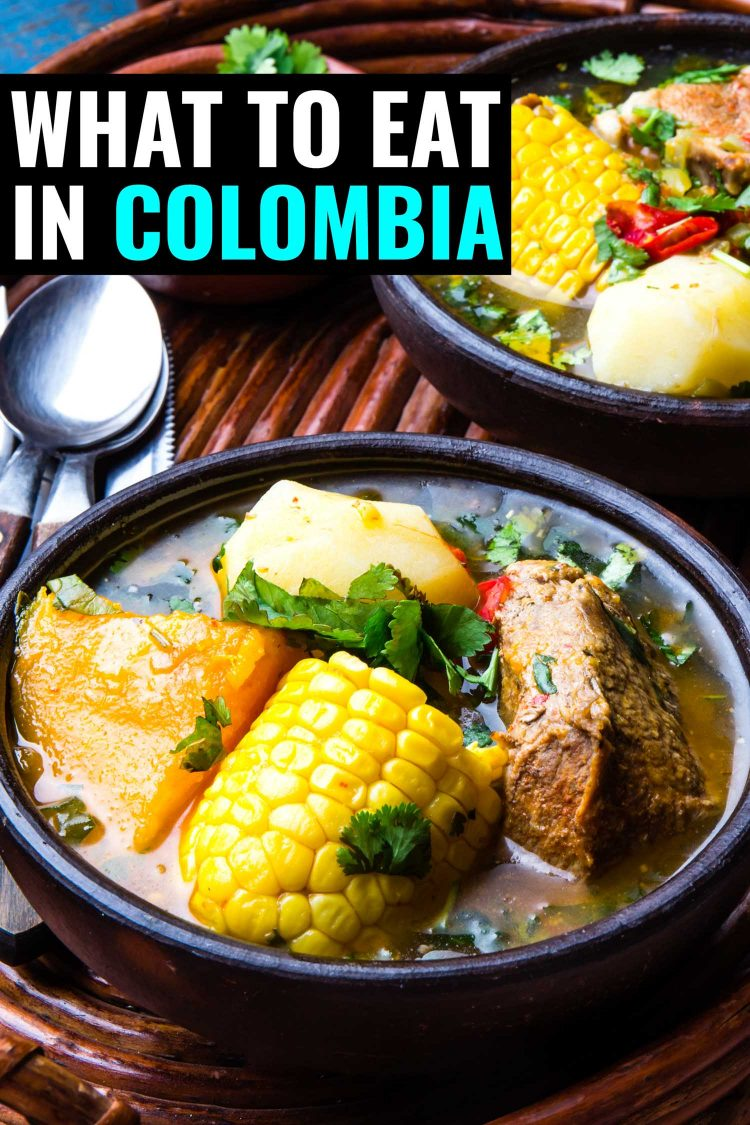 Bowl of ajiaco a traditional Colombian soup