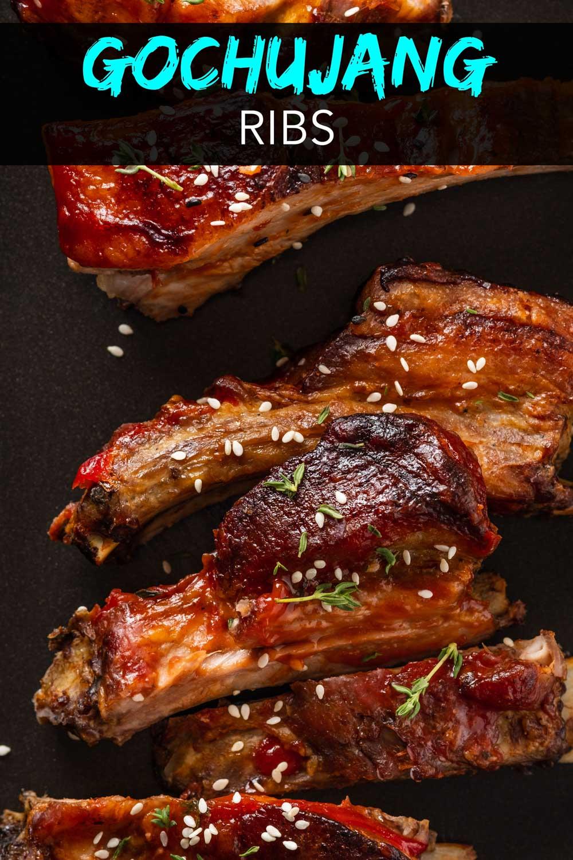 Korean ribs on a tray