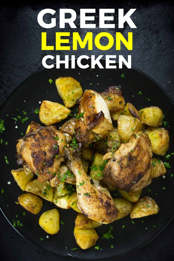 Oven Roasted Green Lemon Chicken Greek Lemon Chicken is a bright and flavourful meal with only five ingredients. An easy affordable weeknight meal using chicken drumsticks and chicken thighs Greek lemon chicken is known as kotopoulo lemonato in Greece but don't let that intimidate you. This delicious recipe is so easy to make, low carb, keto, and gluten-free. #greek #lemon #chickenskewers #chicken #recipes #dinnerrecipes #chickenrecipe #chickentender #chickenfoodrecipes #easyrecipe