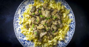 This recipe for Instant Pot beef stroganoff is an easy weeknight meal. Forget recipes with canned mushroom soup, this one is easy with real ingredients.