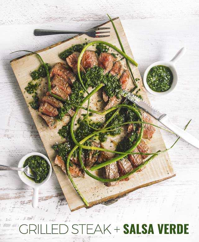 Salsa verde is an Italian fresh herb sauce. Like Argentinean chimichurri it takes your barbecue game up a notch but takes less than a minute to make.