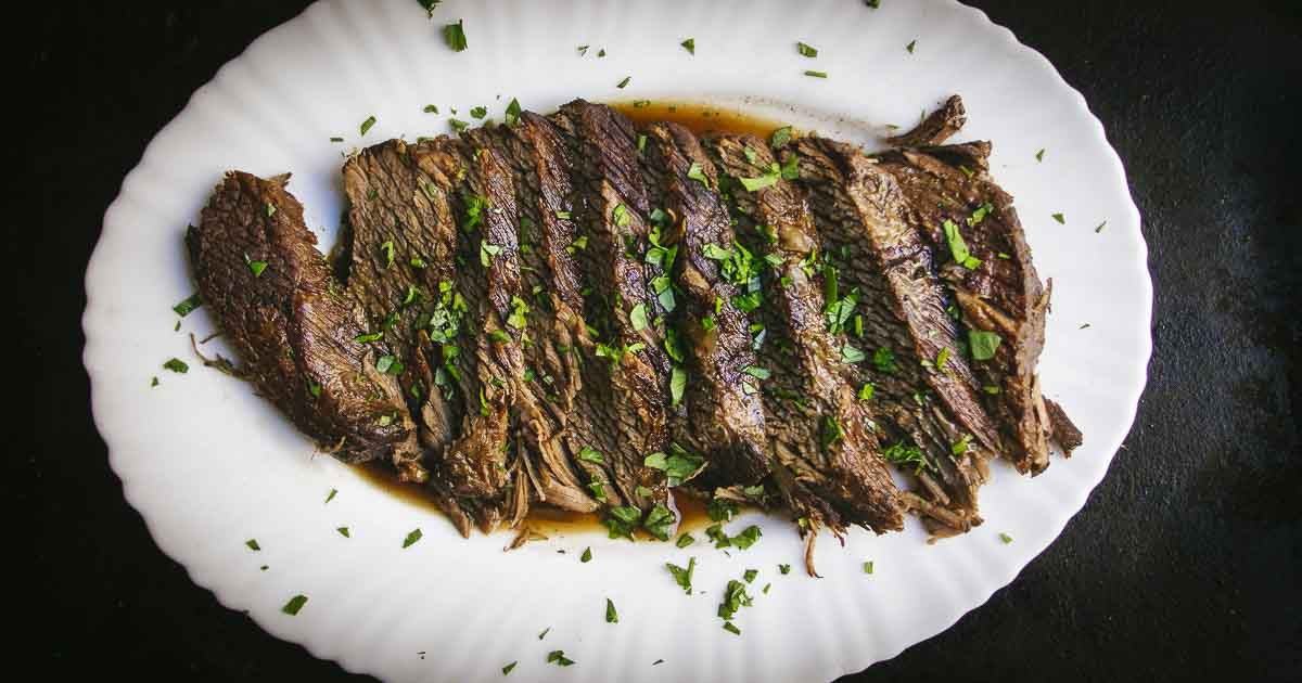 Instant Pot Braised Brisket with Red Wine | Bacon is Magic