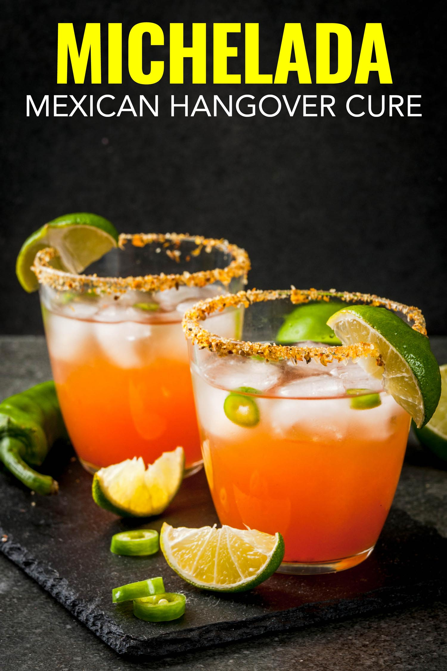 Mexican michelada beer cocktail