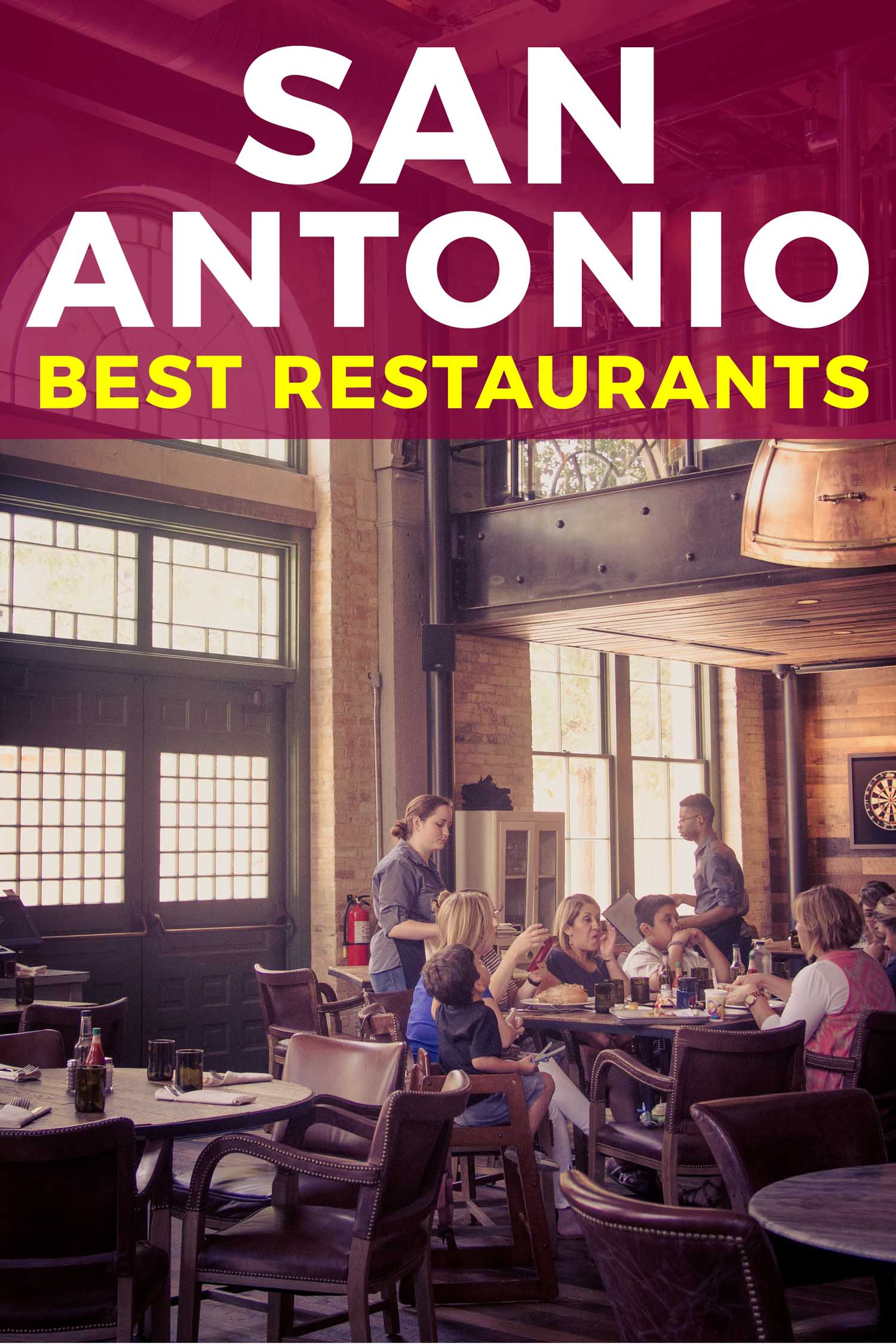 One of the best restaurants in San Antonio, interior with people dining