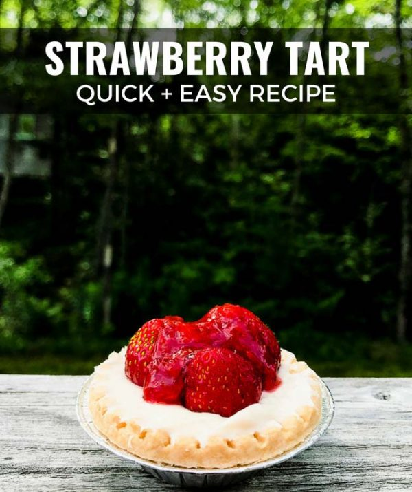 This strawberry tart recipe is so quick and easy, it's perfect for people who hate to bake or can't stand the summer heat in the kitchen.