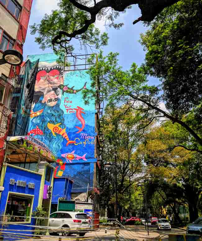 The bohemian neighbourhood of La Condesa Mexico City has great shops, the best restaurants and a gigantic park in the centre, what more could you want.