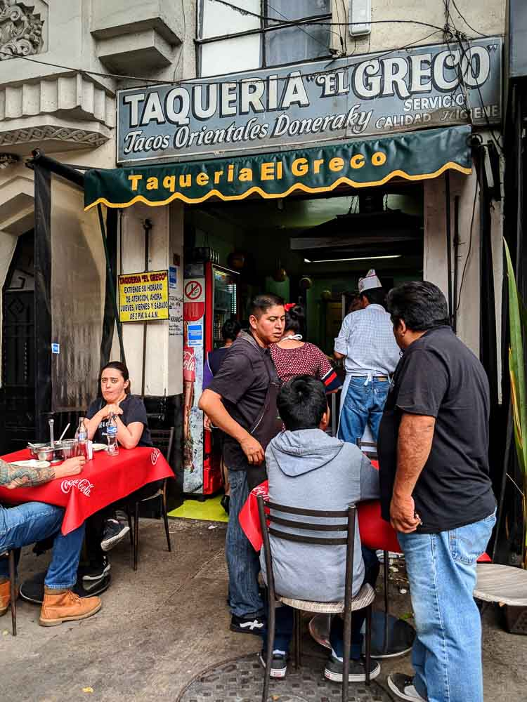 Tacos El Greco in La Condesa Mexico City is one of the best places for lebanese style tacos.