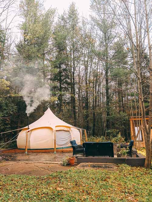 Stay in a yurt while exploring the Grey County Saints and Sinners trail.