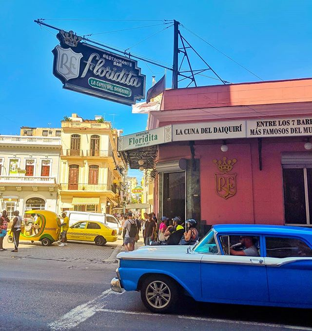 Floridita in Havana in Havana is one of the tourist spots for Hemingway in Cuba.