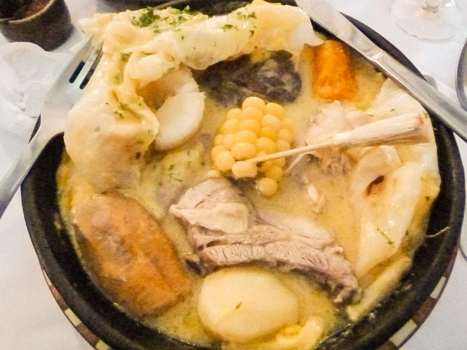 Puchero Santafereño is an essential part of Colombian cuisine and a must try dish.
