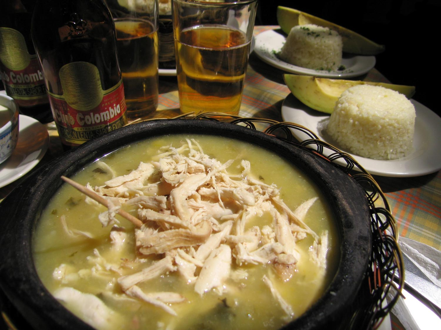 Ajiaco is a Colombian food you need to try, an incredible soup.