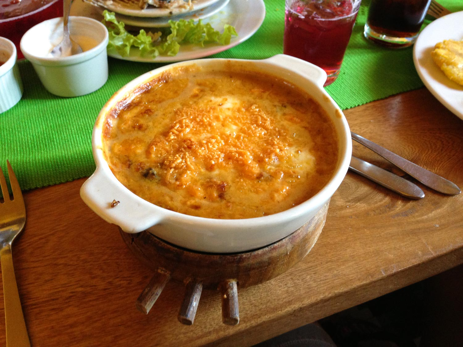 Cazuela de marisco is a Colombian food you must try, a delicious seafood casserole type stew.