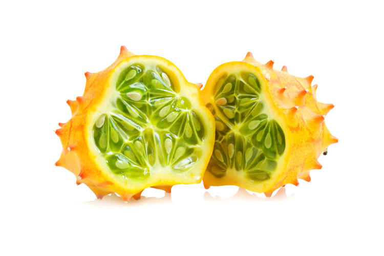 African horned cucumber is one of the tastiest exotic fruits and is originally from Sub-Saharan Africa but now grown in the United States, Europe and New Zealand.
