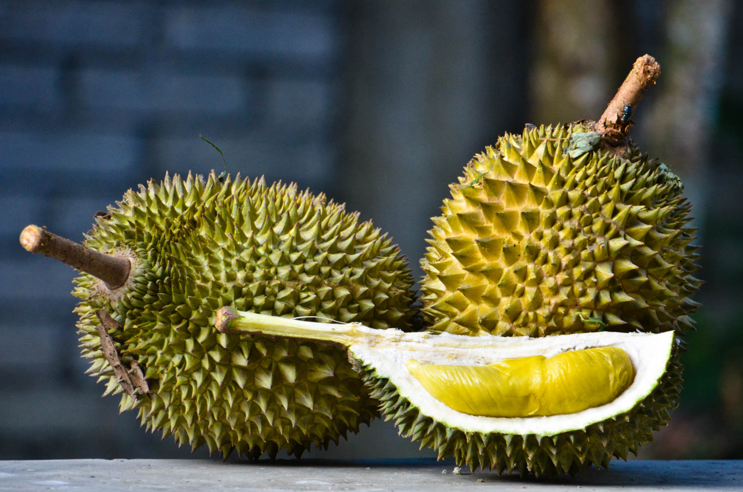 Durian is one the stinkiest exotic fruits and is original from Malaysia, Thailand and Indonesia