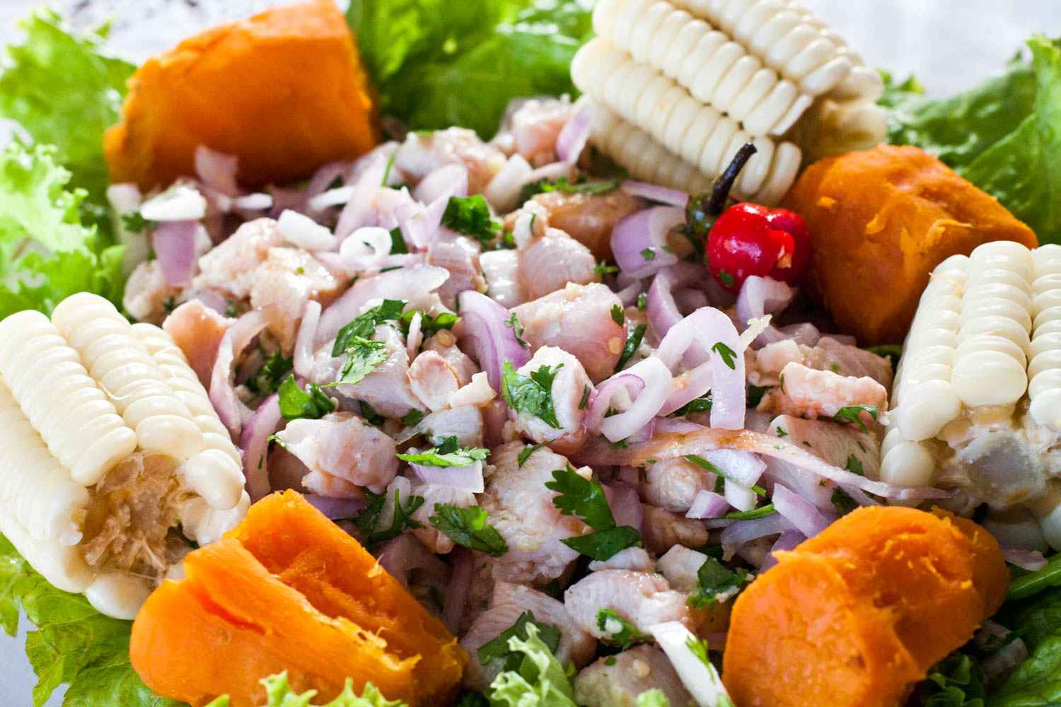Ceviche is a Chilean corn pie and just one of 30 Chilean food that you'll adore.