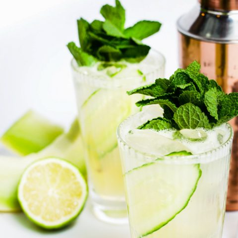 Cucumber mule with gin