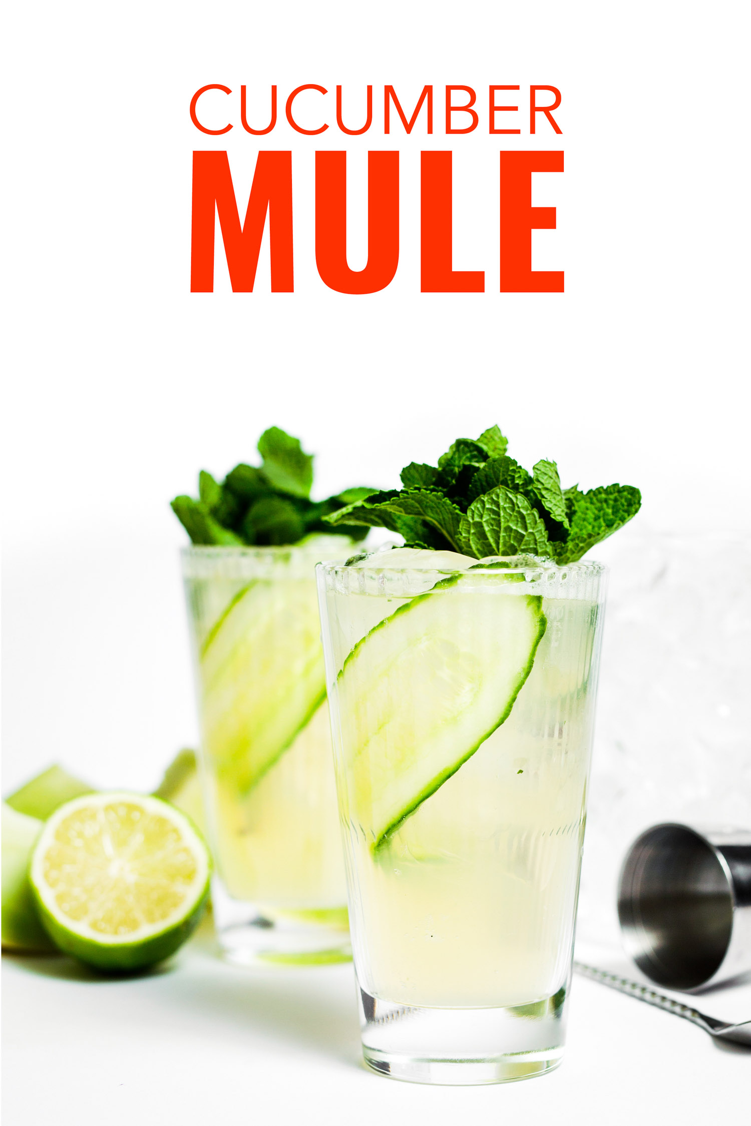 Easy cucumber mule recipe with gin instead of vodka.