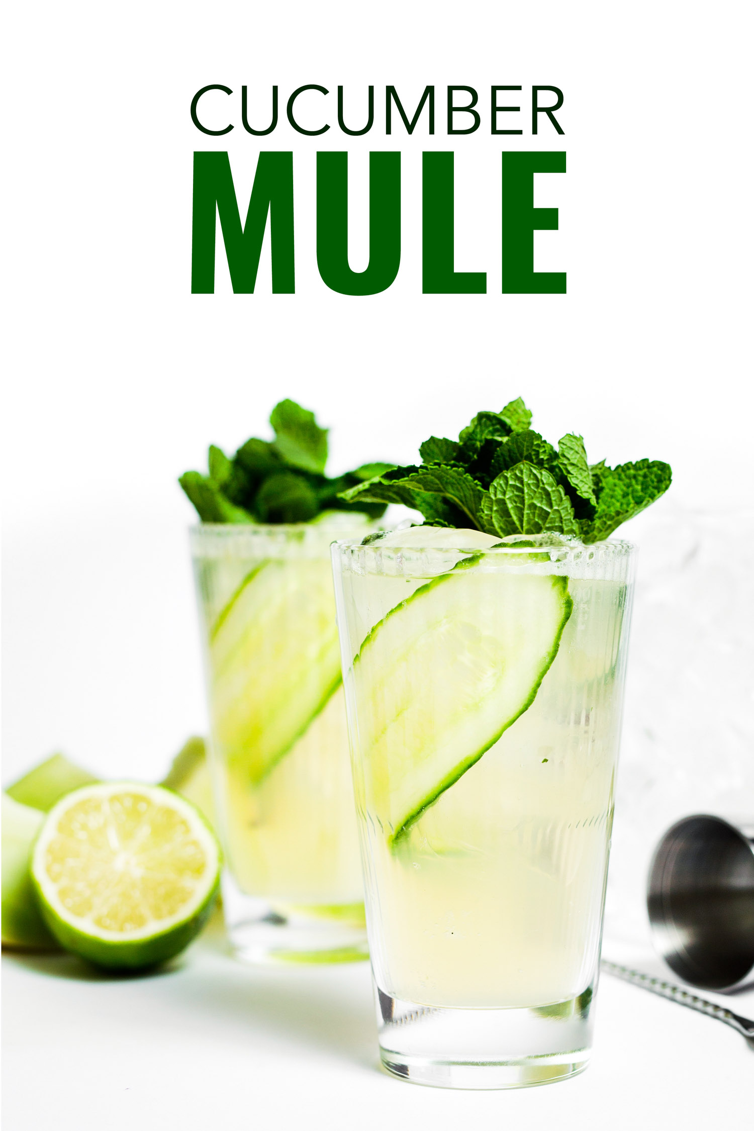 Easy cucumber mule cocktail