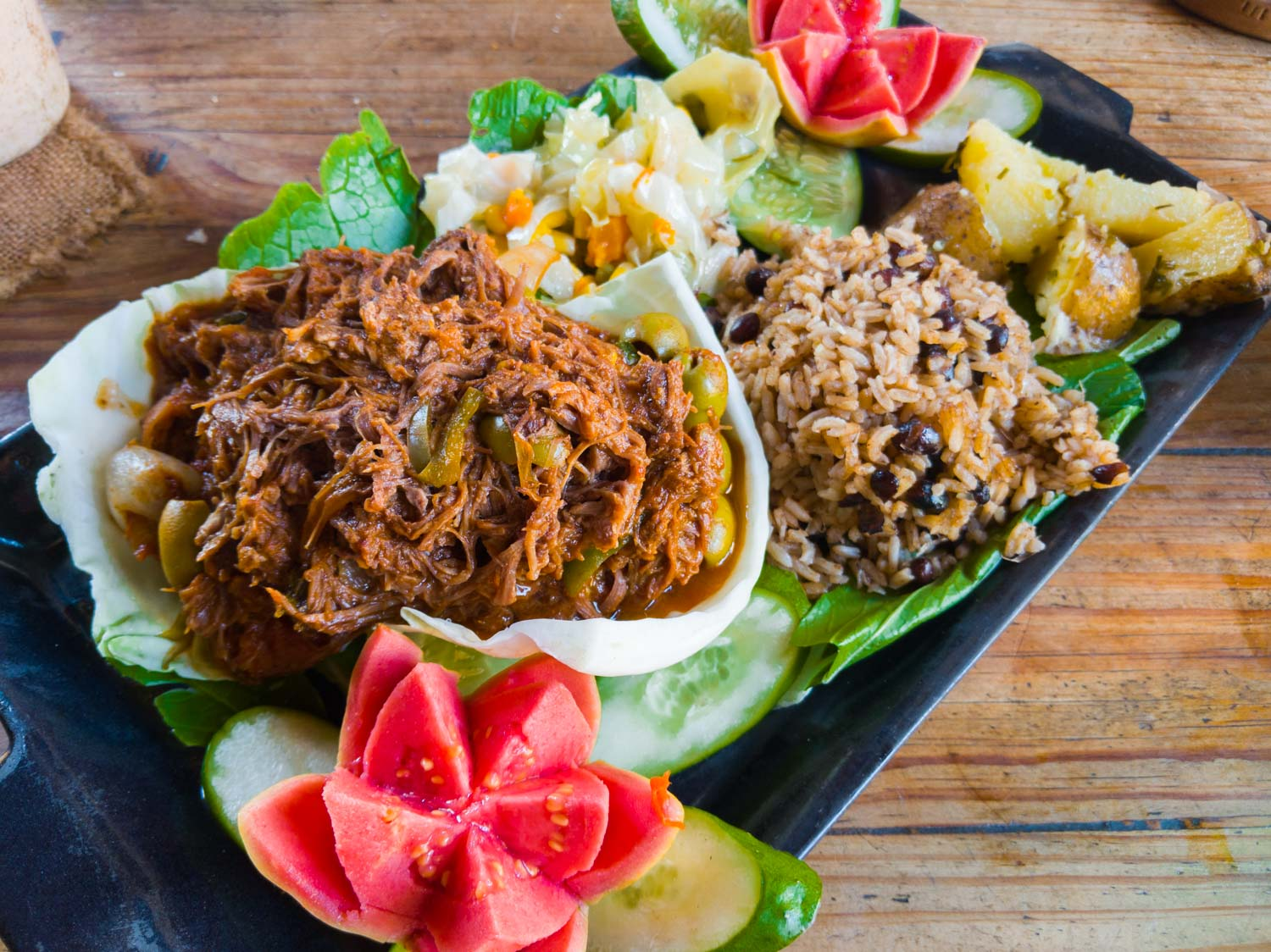 Ropa vieja is the national dish of Cuba you can find it at la Botija in Trinidad Cuba