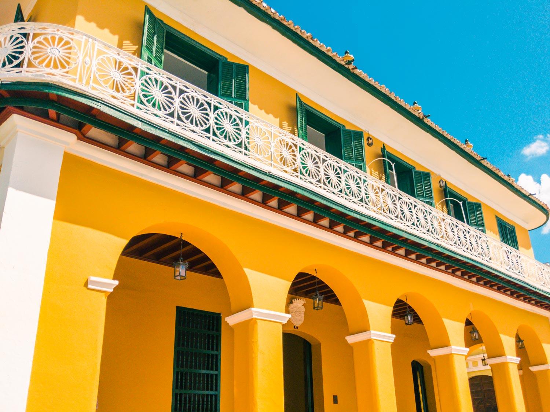 Museo Romantico on Plaza Mayor in Trinidad Cuba