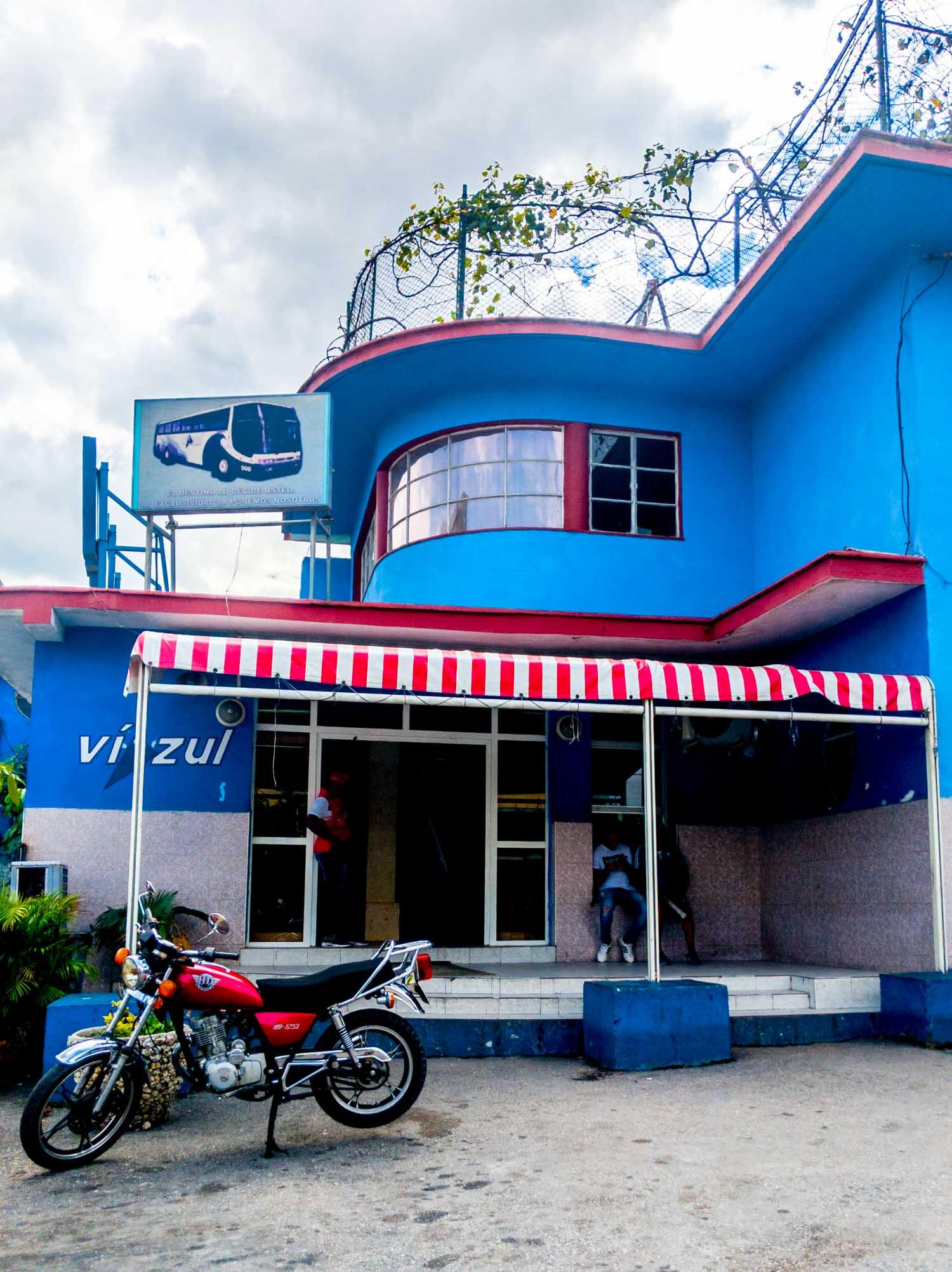 The Viazul bus station in Havana Cuba.