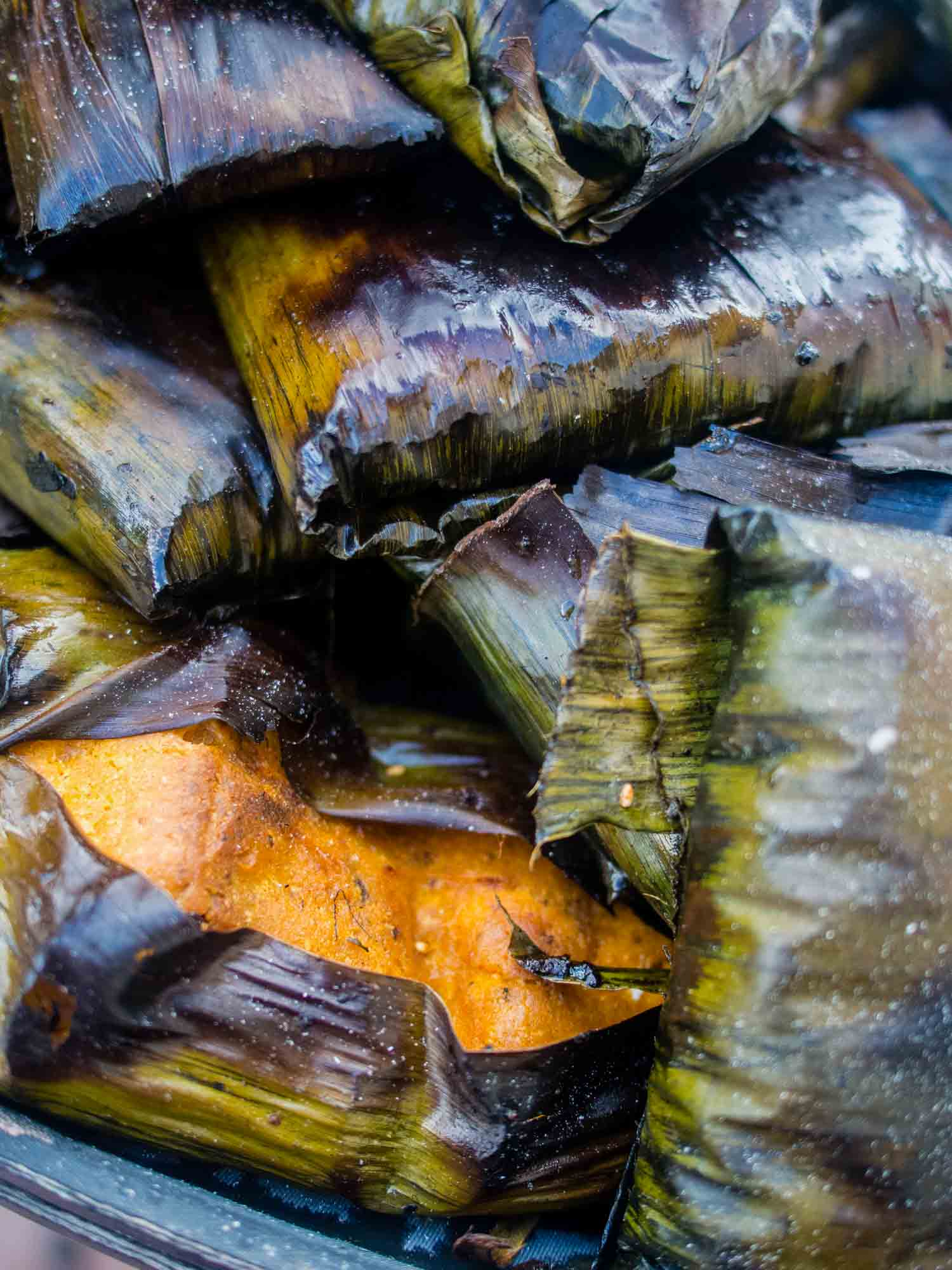 Panama food: tamales are a typical traditional food in Panama and can have many fillings,