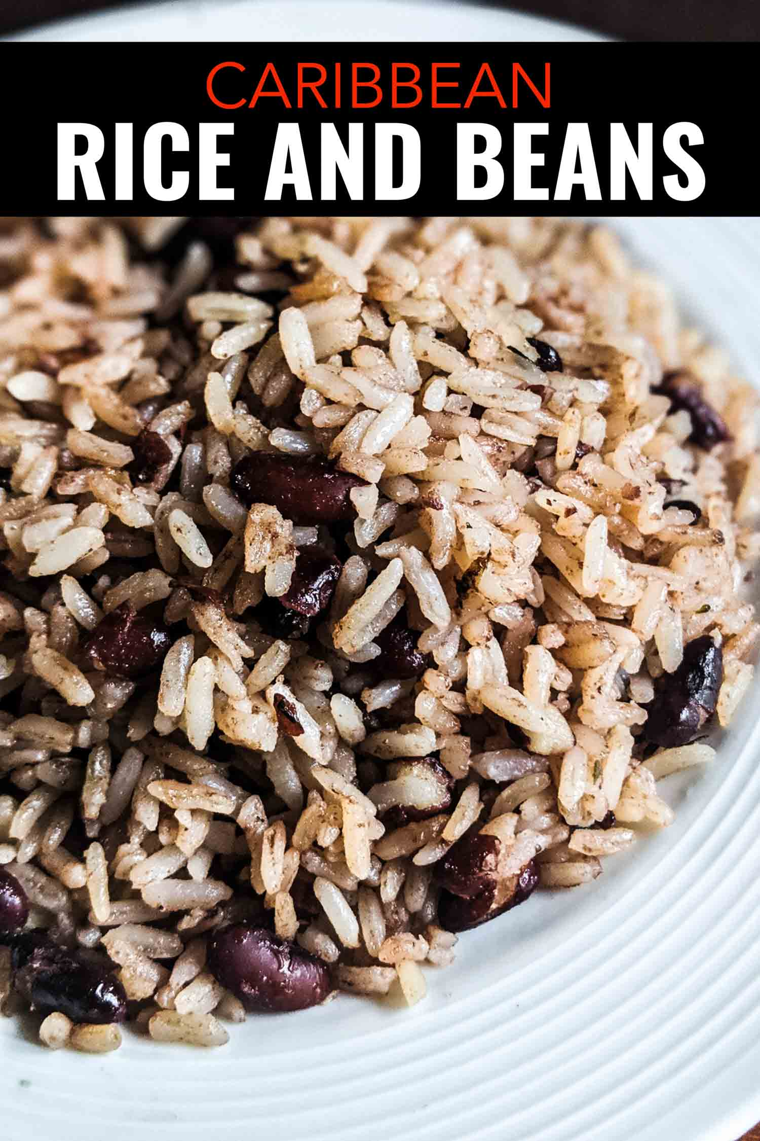 Easy Caribbean beans and rice recipe with coconut milk from southern Costa Rica. #Vegan #vegetarian